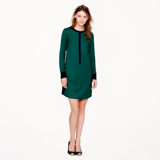Collection wool flannel shirtdress