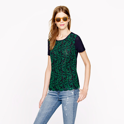 Collection silk lace-front tee