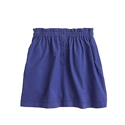 Girls' mini-cord skirt