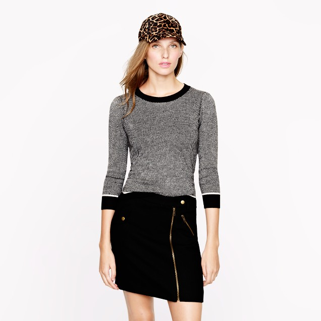 Collection cashmere bird's-eye sweater