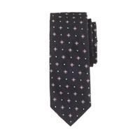 English silk tie in navy foulard