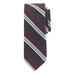 English wool-silk tie in classic stripe