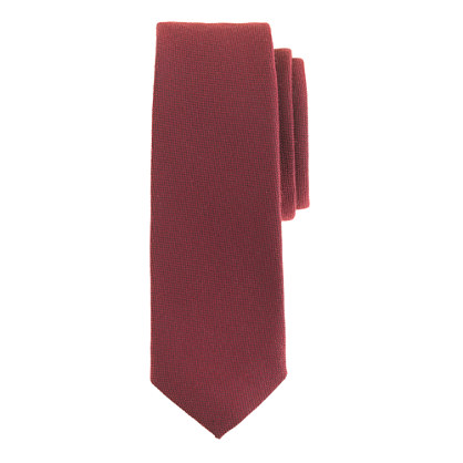 English wool-silk tie in solid