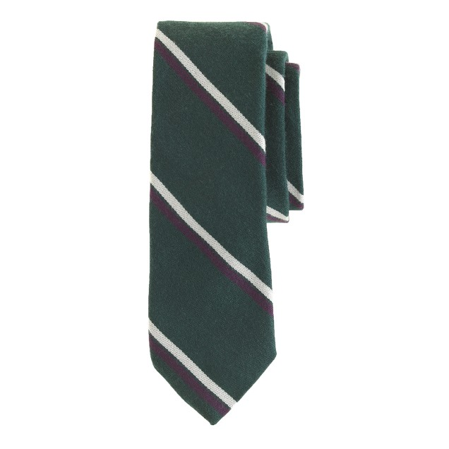 English wool-silk tie in rifle stripe