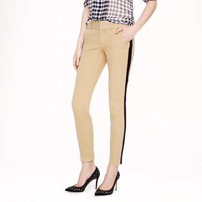 Petite Andie chino with tuxedo stripe