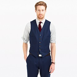 Ludlow suit vest in Italian wool flannel