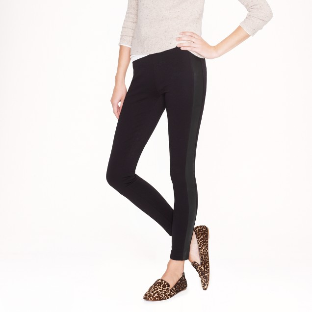 Tall Pixie pant in leather tuxedo stripe
