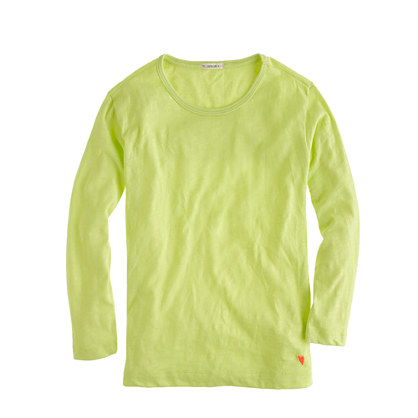 Girls' long-sleeve drapey tee