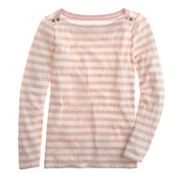 Painter button boatneck tee in stripe