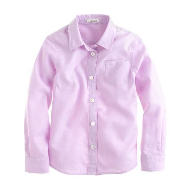 Girls' tissue oxford cloth shirt