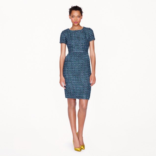 Collection emerald tweed dress