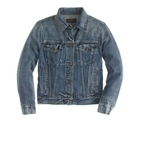 Vintage denim jacket in indigo wash