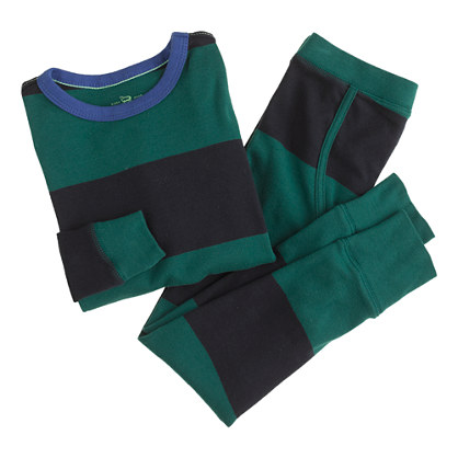 Boys' rugby-stripe sleep set