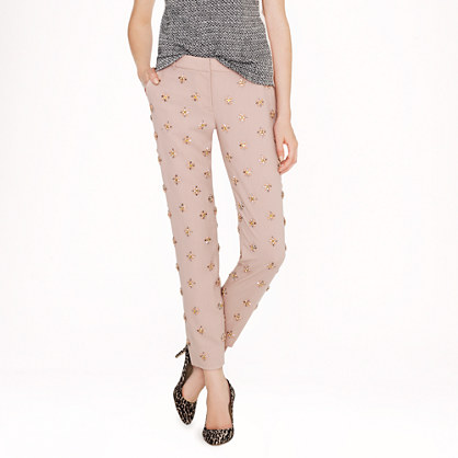 Collection café capri in embellished wool crepe