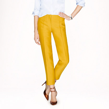 Collection wool-silk cropped pant