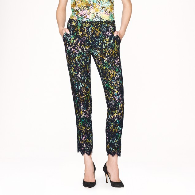 Collection café capri in technicolor floral with lace