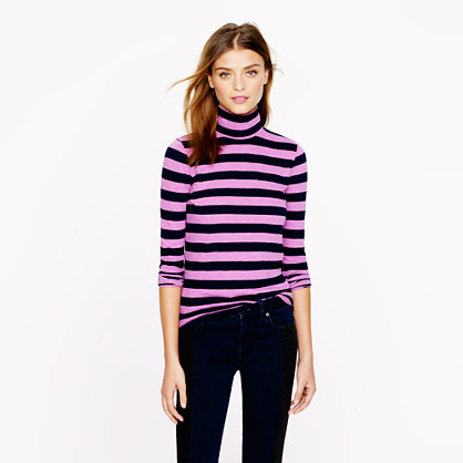 Tissue turtleneck tee in neon stripe