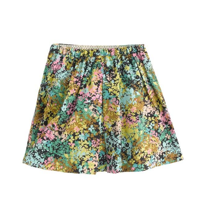Girls' technicolor floral skirt