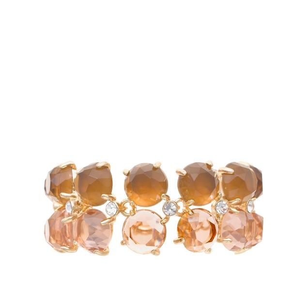 Stone rows bracelet
