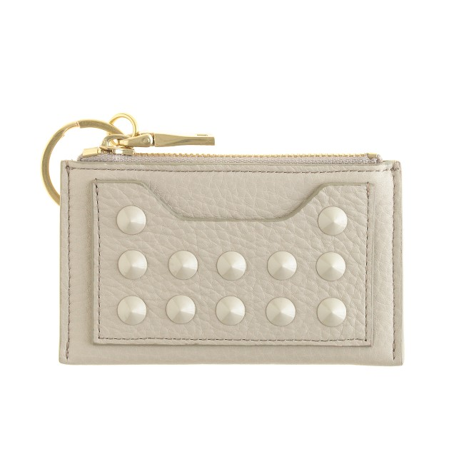 Studded leather coin purse