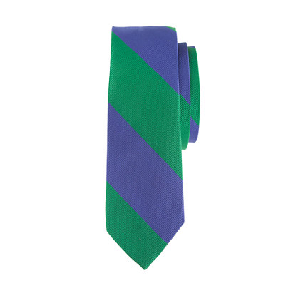 Boys' silk tie in wide stripe