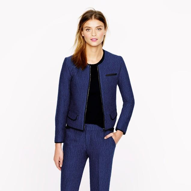 Cobalt tweed jacket