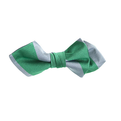 Boys' silk bow tie in jade stripe
