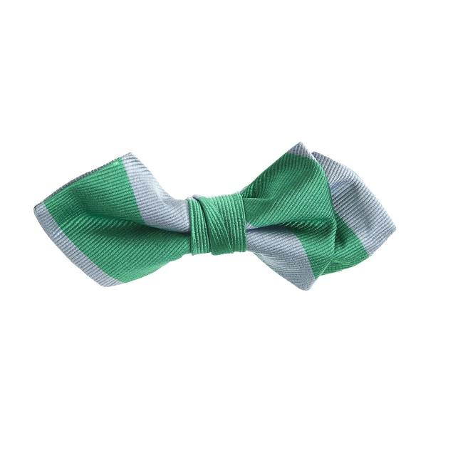 Boys' silk bow tie in jade stripe
