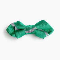 Boys' silk bow tie in emerald stripe
