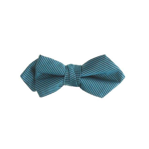 Boys' silk bow tie in azure pool
