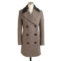 Captain coat in jeweled houndstooth