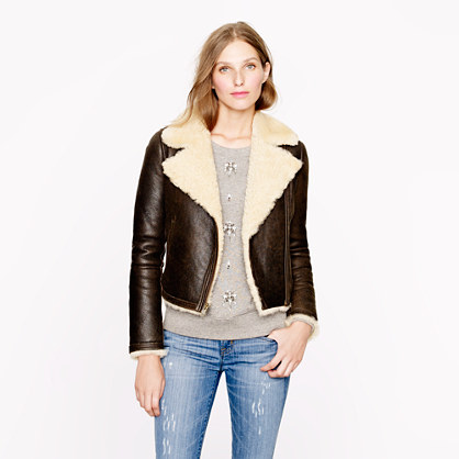 Collection shearling aviator jacket : collection | J.Crew