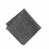 Boys' chambray pocket square in pindot