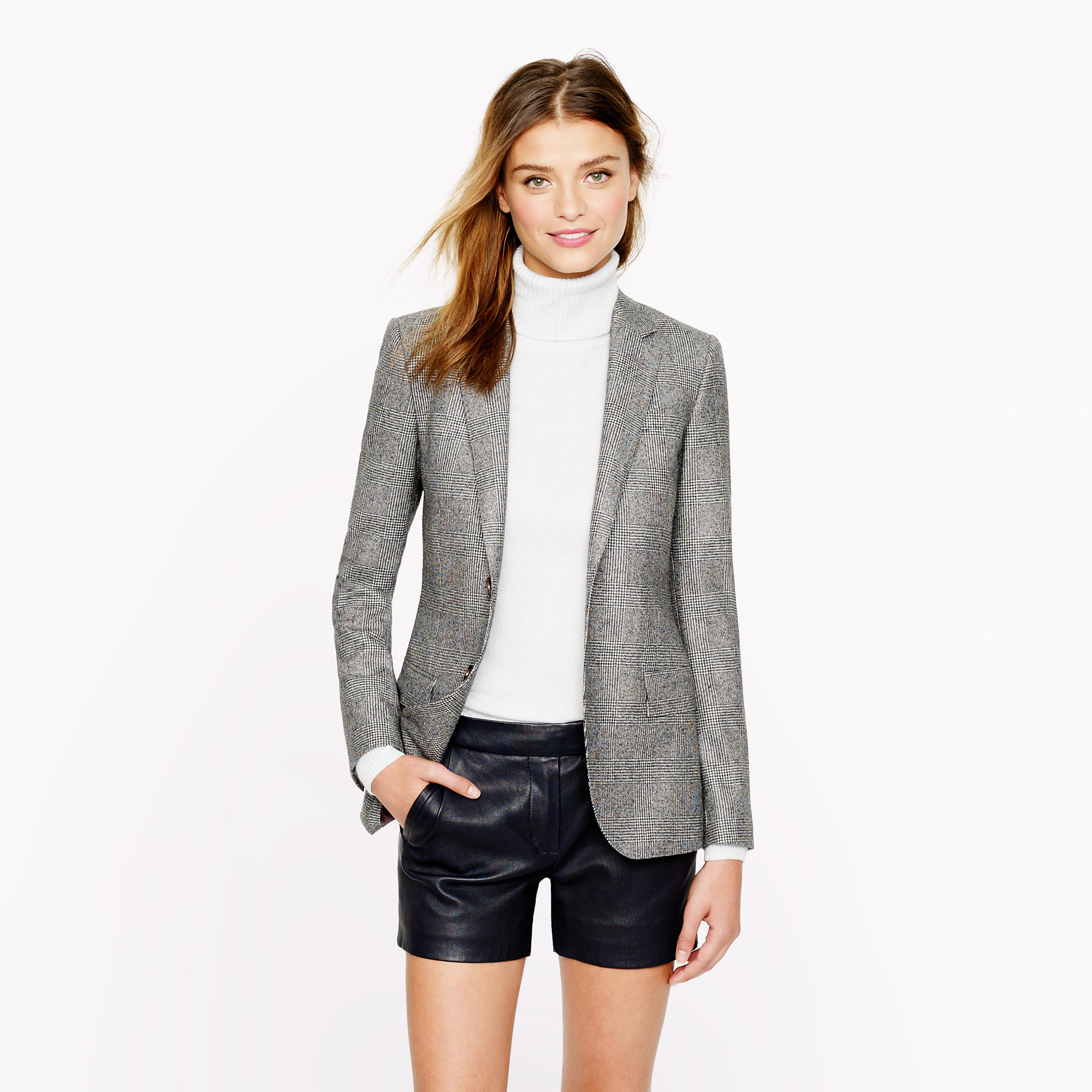 Women's Ludlow blazer in glen plaid Italian wool : | J.Crew