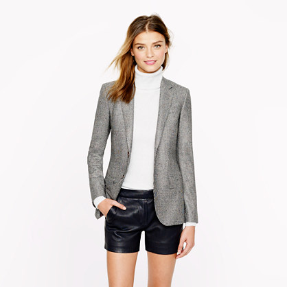 Women's Ludlow blazer in glen plaid Italian wool