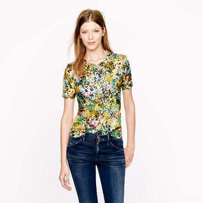 Technicolor floral top