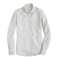 Boy shirt in suckered stripe