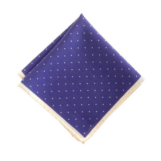 Italian wool pocket square in classic dot