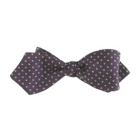 Silk bow tie in ringed dot