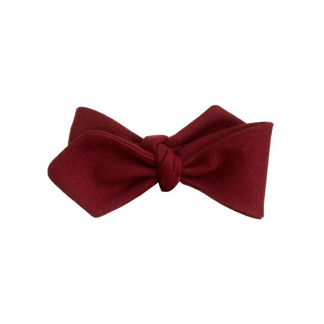 Cotton bow tie in burgundy