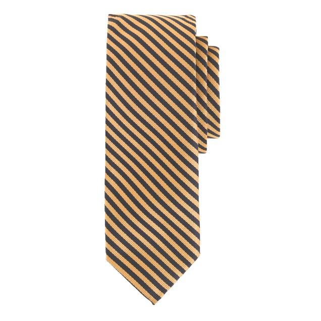 English silk tie in cobalt stripe