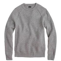 Italian cashmere waffle-knit sweater