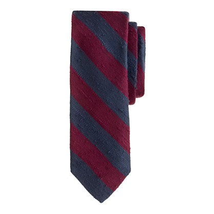 English silk tie in old-school stripe