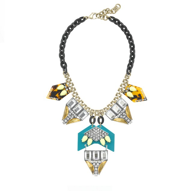 Lulu Frost for J.Crew seascape statement necklace