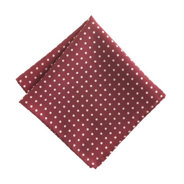 Italian wool pocket square in dots