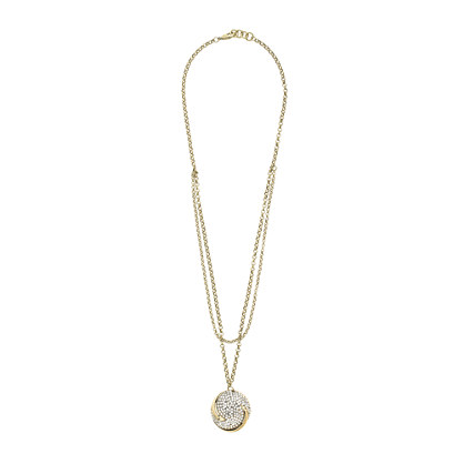 Lulu Frost for J.Crew swirling waves pendant necklace