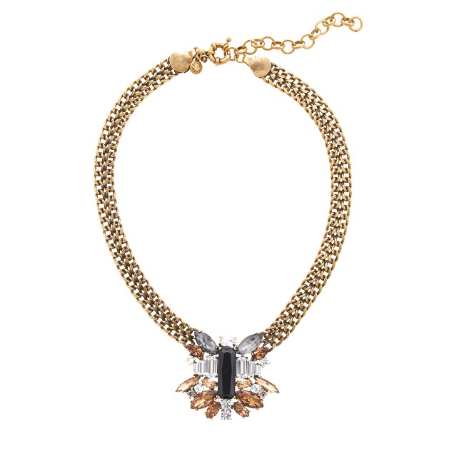 Piled stone necklace