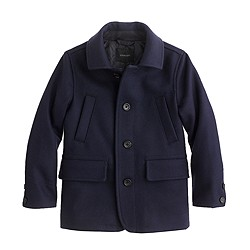 Boys' wool Langham coat