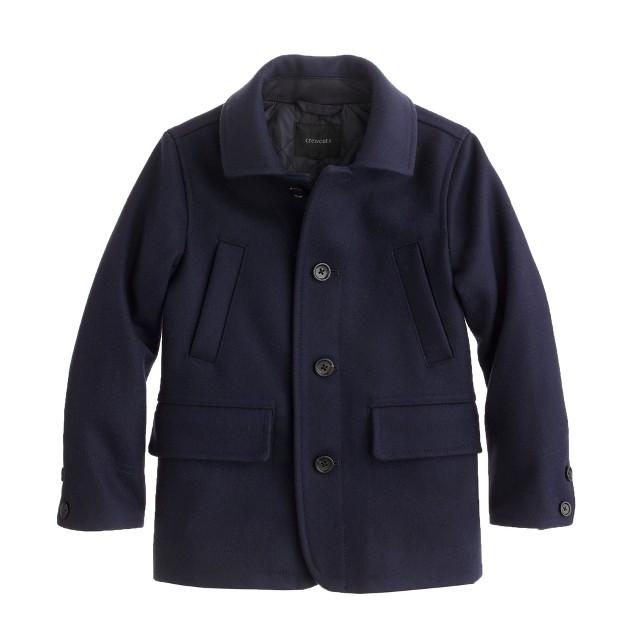 Boys' wool Langham coat
