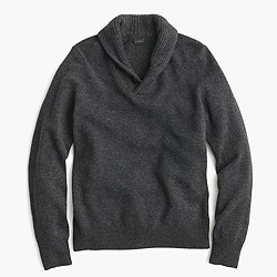 Lambswool shawl-collar sweater